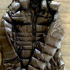 Black down filled winter jacket.
